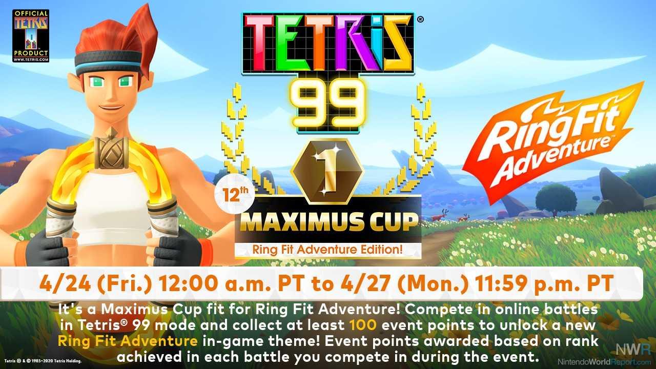 Neueste Maximus Cup In Tetris 99 mit Ring Fit Adventure Theme