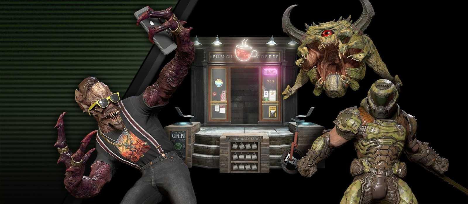 Hipster Dämon ist in Doom Eternal mit einem kostenlosen Update erschienen. Er ist auch ein Barista