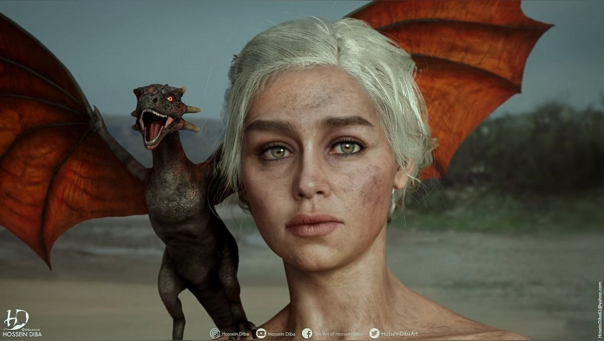 Die Künstlerin stellte realistische nackte Daenerys aus