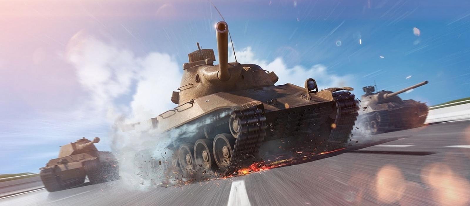 Die Entwickler von World of Tanks Blitz spielen zu Ehren des 23. Februar mit dem Comedy Club-Comedian