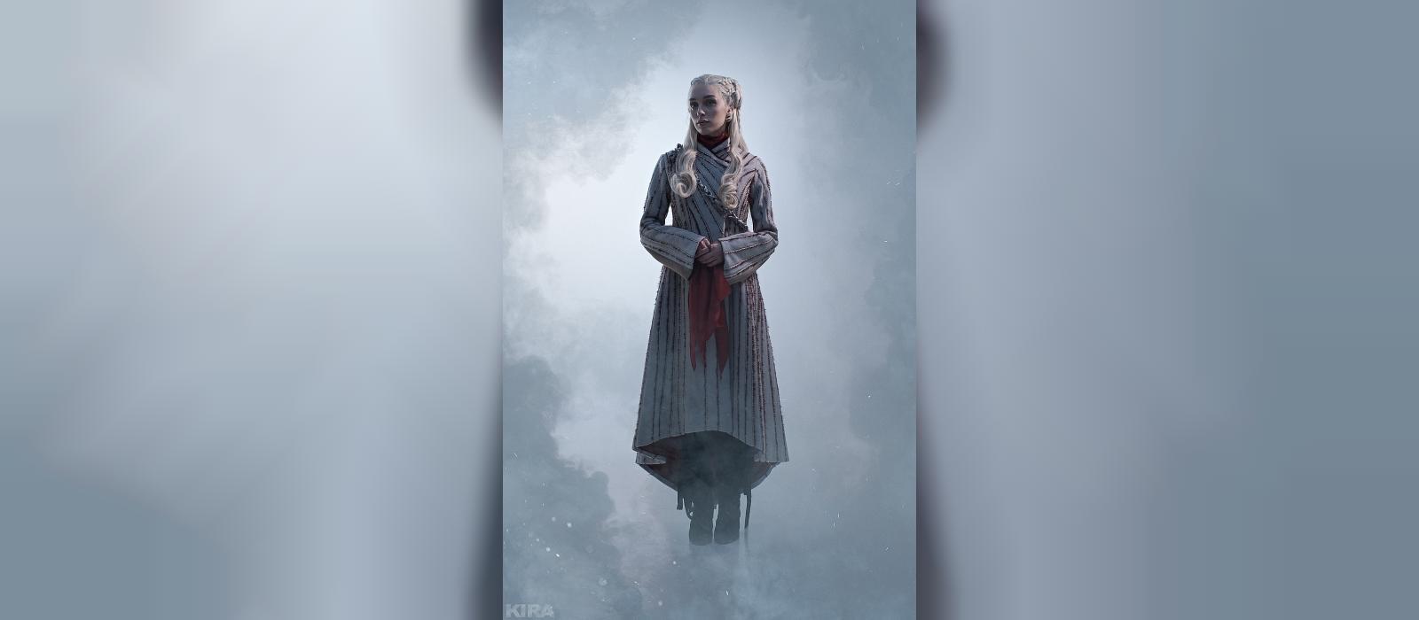 Die russische Schönheit zeigte ein aufregendes Cosplay von Daenerys aus Game of Thrones.  Es gibt ein Foto 18+