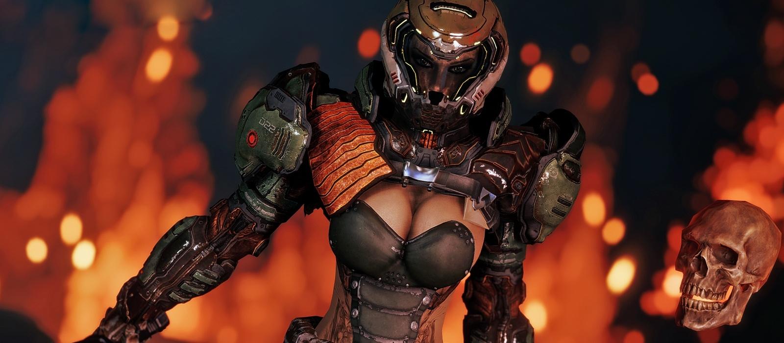 Doom Eternal Produzent deutet auf eine weibliche Version des Rock Slayer hin