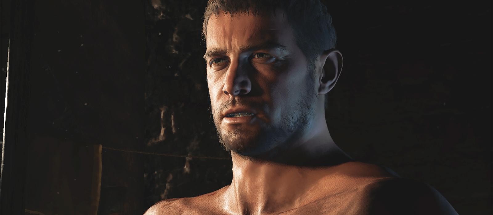 Chris Redfield von RE Village ist erneut ein Opfer von Moddern.  Diesmal wurde er nackt ausgezogen und angemacht