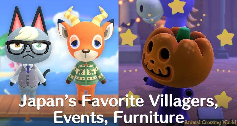 Dies sind Japans beliebteste Dorfbewohner, Möbel und Veranstaltungen, die Tiere überqueren (Famitsu-Umfrage)