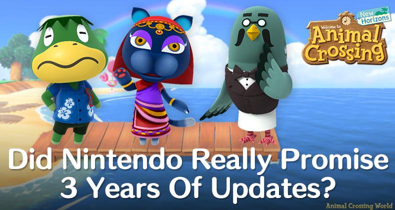Hat Nintendo wirklich 3 Jahre versprochen? Animal Crossing: New Horizons Aktualisierung?  (Analyse)
