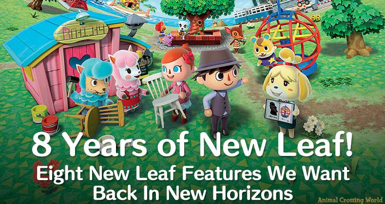 8 Jahre New Leaf: Acht Features, die wir wieder haben wollen Animal Crossing: New Horizons
