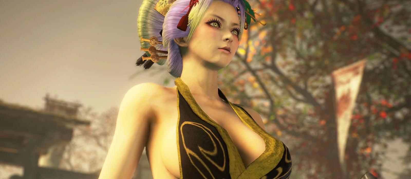 Die Heldin in Nioh 2 hatte ihre Brüste stark vergrößert und vollständig entblößt.  Lady Dimitrescu kann beneiden