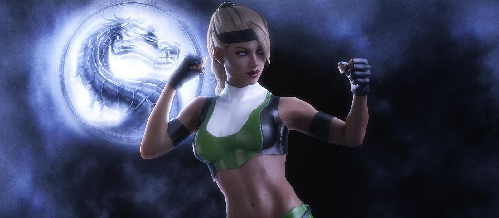 Die echte Sonia Blade, Sub-Zero und Sindel von Mortal Kombat cosplayten die Helden 25 Jahre später.  Ed Boone hat es geschätzt