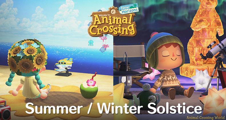 Frohe Sommer- / Wintersonnenwende: Letzte Chance für zeitlich begrenzte Animal-Crossing-Gegenstände