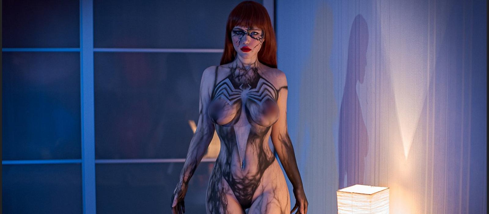Die Russin Lada Lumos zeigte nacktes Cosplay Mary Jane, besessen von Venom