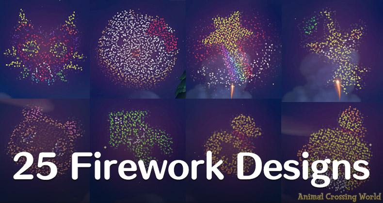 25 fantastische kundenspezifische Feuerwerksdesigns für Feuerwerksshow-Events Animal Crossing: New Horizons