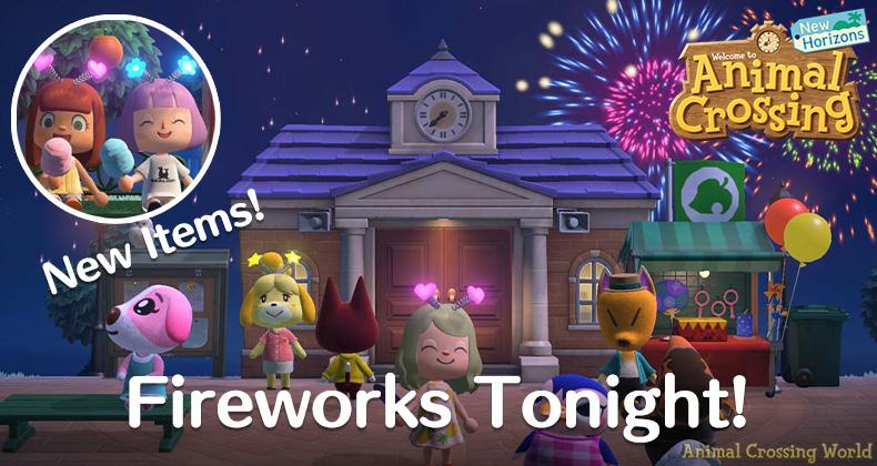 Feuerwerksshow-Event kehrt für 2021 zurück Animal Crossing: New Horizons Heute Abend mit neuen Artikeln