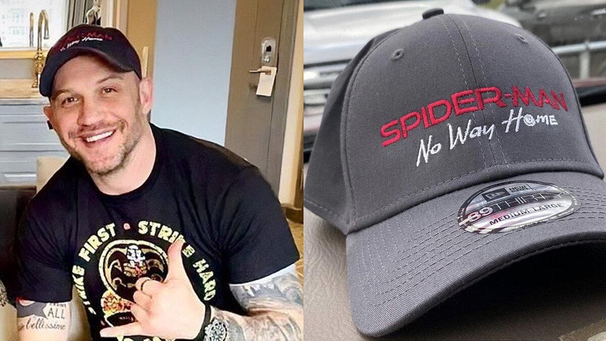 Tom Hardy deutete ein Treffen zwischen Venom und Spider-Man Tom Holland an.  Das Foto wurde schnell gelöscht.